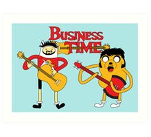 Business Time Art Print