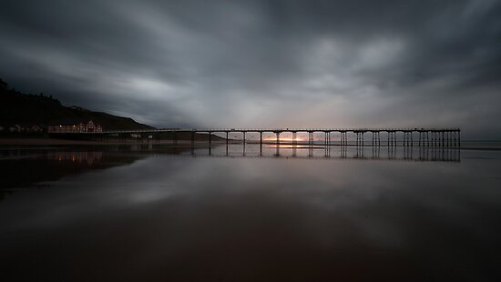 Saltburn - Stormy Sunset by PaulBradley