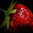 Strawberry on Black by Candice84