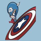 Captain America Chibi by Bunleungart