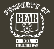 Athletic Property of Bear (for dark shirts) by Bob Buel