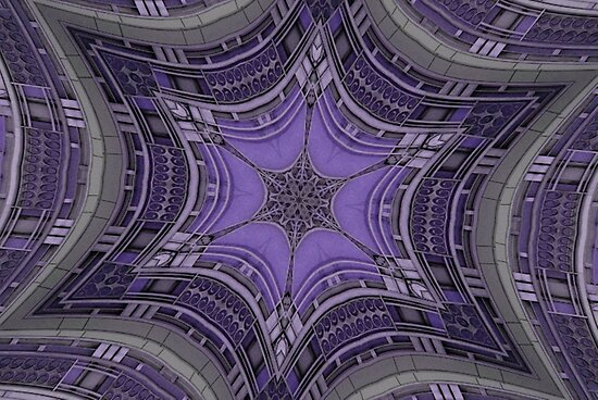 Purple Art Deco by Tori Snow