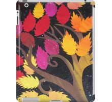 collage rainbow tree- made from recycled math books iPad Case/Skin
