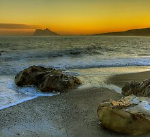 Gibraltar Sunset by manateevoyager