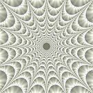 Quilted Web in White by Objowl