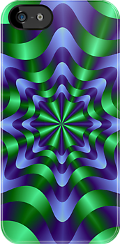 Blue and Green Swirl by Objowl