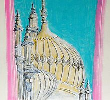 The Royal Pavilion, Brighton by Lesley Rowe