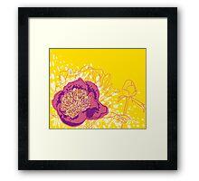 peony flowers Framed Print