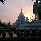 Sunrise, White Temple, Chiang Rai by Duane Bigsby