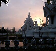 Sunrise, White Temple, Chiang Rai by Duane Bigsby