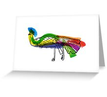 decorative peacock like a child's drawing Greeting Card