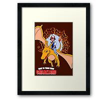 How to Train Your Charizard Framed Print
