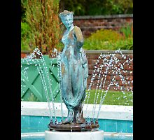 Planting Fields Arboretum State Historic Park Fountain Statue - Upper Brookville, New York by © Sophie W. Smith