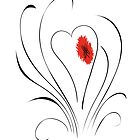 Flowering Love Heart by SwanStarDesigns