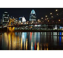 Cincinnati at Night Photographic Print