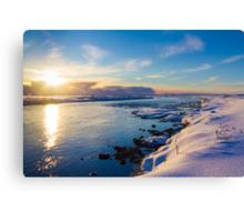 Winter Sunset Canvas Print