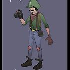 Hipster Luigi by Idrawcartoons