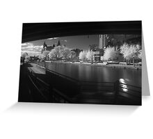 Downtown Ottawa Infra-Red Evening Greeting Card