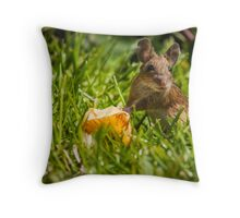 Field Mouse on Alert Throw Pillow