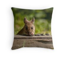 Field Mouse Watching Throw Pillow
