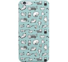 Blue Kitties iPhone Case/Skin