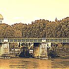 Rome, typical landscape on the banks of the Tiber by orsinico