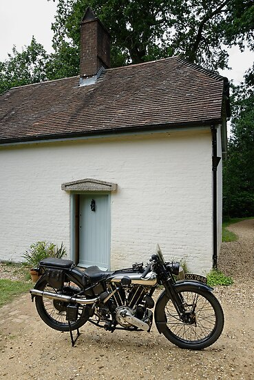 Brough Superior SS 100 at Clouds Hill by Frank Kletschkus