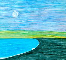 Moon over the Pacific by Christine Chase Cooper