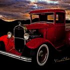 Red 32 Ford Pickup by ChasSinklier