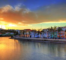 Tavira Summer Sunset by manateevoyager