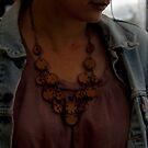 Leather Necklace on a Vintage Gypsy by Carla Wick/Jandelle Petters