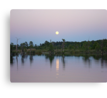 MOONRISE ON BEAR CREEK Canvas Print