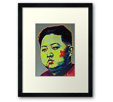 Kim Jong Un 1.0 Framed Print