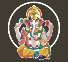 Lord Ganesh - Hindu God - Geometric Avatar by hinducloud
