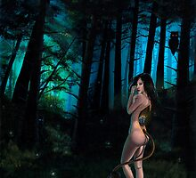 Huldra in Dark Forest by plantiebee