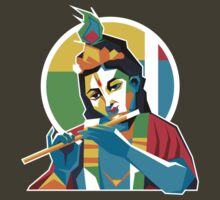 Lord Krishna - Hindu God - Geometric Avatar by hinducloud