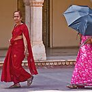 Indian ladies visiting the City Palace in Jaipur by Konstantinos Arvanitopoulos