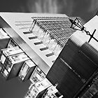 Manchester's civil justice law courts. (B&W) by Stephen Knowles