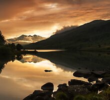 Sunset at Llynnau Mymbyr by Carlb40