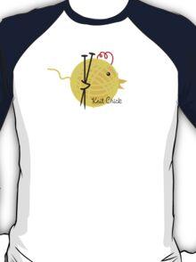 knitting needles knit chick ball of yarn T-Shirt