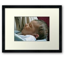 Meet Charlie, Our New Great Grandson Born 21st May 2013 at 11.50 pm Framed Print