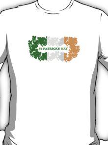 St Patricks Day Flag Clovers T-Shirt