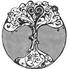 MOTHER TREE OF CREATION ~ BLACK & GREY SCALE by Tuartkatz