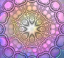 The Pastels Kaleidoscope, mixed media / fractal art by walstraasart