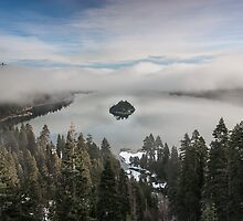 Emerald Bay in Clouds - Lake Tahoe by Richard Thelen