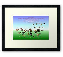Genesis 1:24 - In The Beginning Framed Print