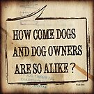 How Come Dogs And Dog Owners Are So Alike? by Hiroko Sakai