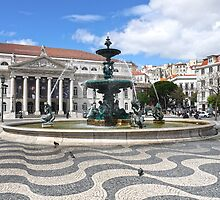 Fountain - Rossio Square, Lisbon by kkmarais