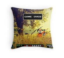 Duck Hunt pixel art Throw Pillow