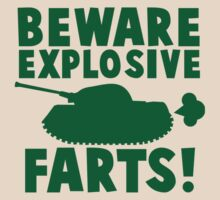 BEWARE! Explosive farts with a military army tank by jazzydevil